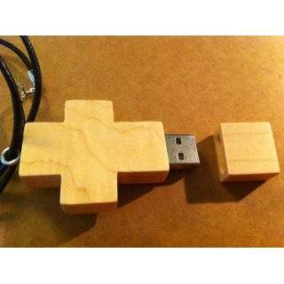 8GB Cubic Stone Cross USB Flash Drive with Necklace,Color