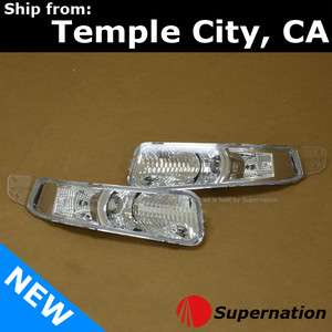 05 08 Ford Mustang GT Front Bumper Turn Signal Light Lamps Chrome