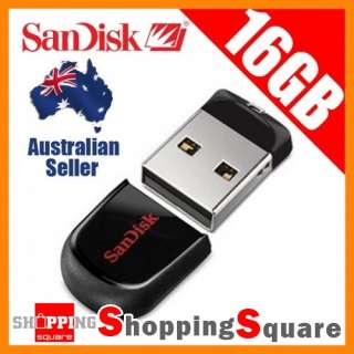 SanDisk Genuine 16GB Cruzer FIT mini USB Flash Drive 16G Memory Stick