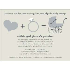 Love + Marriage Taupe Baby Shower Invitations