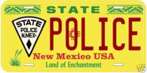 New Mexico State Police Novelty Car License Plate