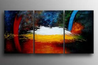Painting Oil Canvas Contemporary Wall Art Large Framed Fine B396