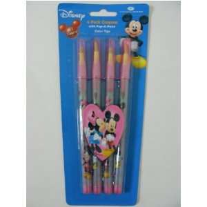 Disney Mickey Minnie 2 pack Crayons with Pop A Point Color Tips Baby