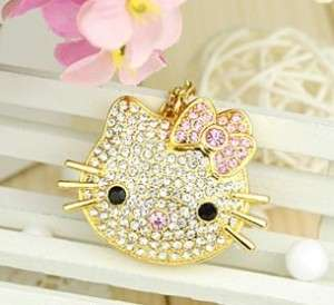 CRYSTAL GOLD HELLO KITTY USB FLASH DRIVE MADE WITH SWAROVSKI ELEMENTS