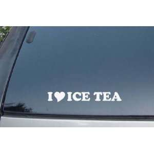 Love Ice Tea Vinyl Decal Stickers