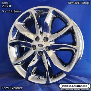 OEM FORD EXPLORER 20 PVD CHROME WHEELS EXCHANGE
