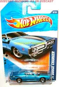 1971 71 DODGE CHARGER BLUE HOT WHEELS DIECAST 2011