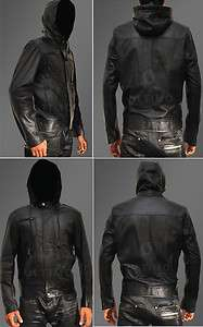 Mission Impossible 4 Ghost Protocol Cruise Mens Hooded Bomber Leather