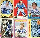 Cowboys Bob Lilly signed 1970 Topps card