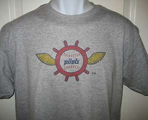 Seattle PILOTS 1969 Throwback Retro Logo T Shirt XXL