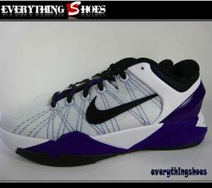 Nike Kobe VII (GS) White Black Concord Purple Basketball Shoes