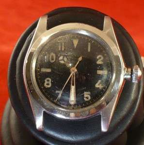 ARMY WATCH BLACK FACE MERCEDES HANDS working WWII pilots watch