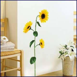 SUNFLOWER ART DECALS MURAL WALL DECOR STICKERS #26
