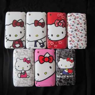 1piece Cute Hello Kitty Hard Back Case for iPhone 3G 3Gs 7patterns
