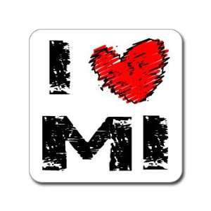 Love Heart MI   MICHIGAN   Window Bumper Laptop Sticker Automotive