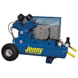 Portable Electric Motor Air Compressors1 PH, Pump G, 5HP, Tank 8 GAL
