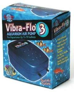 VIBRA FLO 3 AIR PUMP ~ aquarium fish tank bubble action