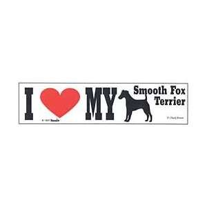 Smooth Fox Terrier Bumper Sticker Automotive