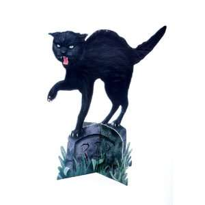 Scary Black Cat Stand Up Decoration Halloween Prop Toys & Games