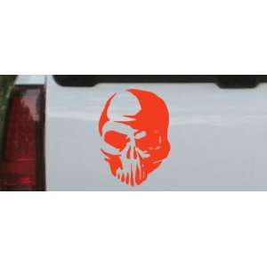 6in X 8in Red    Tribal Skull Skulls Car Window Wall Laptop Decal