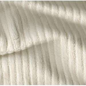 60 Wide Minky Chenille Stripe Ivory Fabric By The Yard
