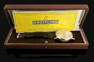 Vintage Breitling Top Time 18k Yellow Gold Chronograph Mens Watch