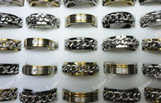 wholesale jewelry mixed lots 50pcs fashion stainless steel rings free