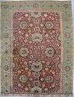 11x16 BURGUNDY ANTIQUE 1900 AGRA ORIENTAL HAND KNOTTED WOOL AREA RUG
