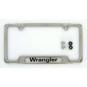 Jeep Wrangler Polished Stainless Steel Wrangler Logo License Frame