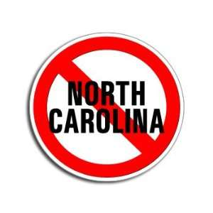 NO Anti NORTH CAROLINA   Window Bumper Laptop Sticker