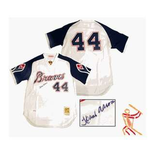 Hank Aaron Hand Signed 1974 Braves Jersey