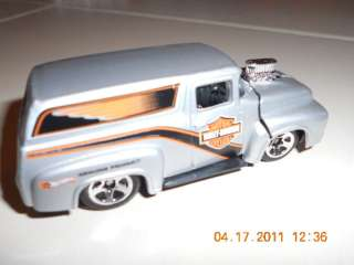 Hot Wheels Harley Davidson 1956 Ford PANEL Truck New