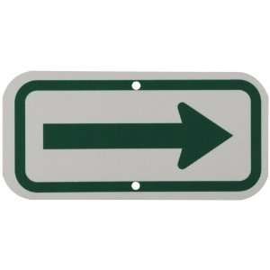 Reflective Aluminum, Green on White Left Arrow Pictogram Traffic Sign