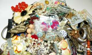 LOT 5 Lbs. Jewelry Parts and Watches Rhinestones Harvest Altered Art