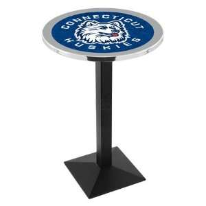 42 UConn Bar Height Pub Table   Square Base   NCAA