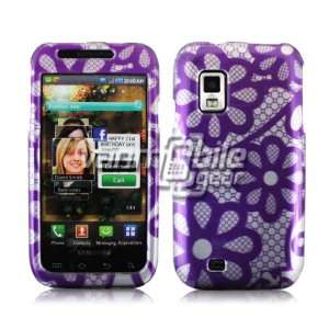 PURPLE DAISIES DESIGN CASE + LCD SCREEN PROTECTOR for SAMSUNG