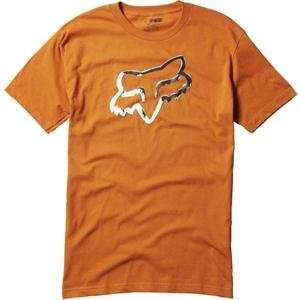 Fox Racing Ink Covered T Shirt   Small/Burnt Orange