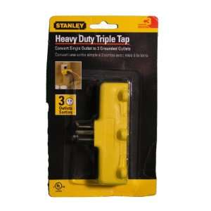 Stanley Heavy Duty Triple Tap 1 to 3 Grounded Outlet
