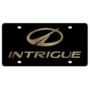 Oldsmobile Intrigue License Plate on Black Steel