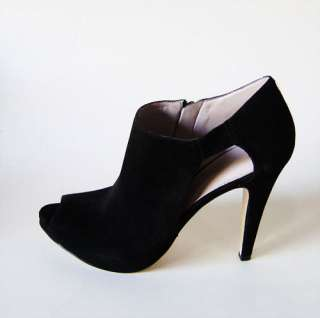 New Nine West PHANTOM Ladies Black Suede Heels Shoes
