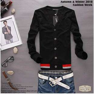 Korean Fashion Slim Fitted Mens Elegant V Neck Sweater Quality