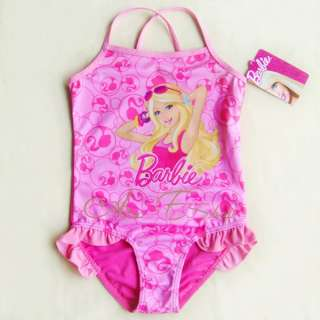 Girls Baby Barbie Princess 2 7Y Swimsuit Swimwear Swim Costume Bathing