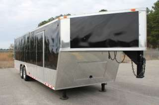 36 8.5X36 ENCLOSED GOOSENECK CARGO CAR HAULER TRAILER   V NOSE