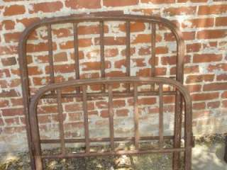 Vintage Antique Twin Bed Metal Frame Home Decor Yard Art Rusty