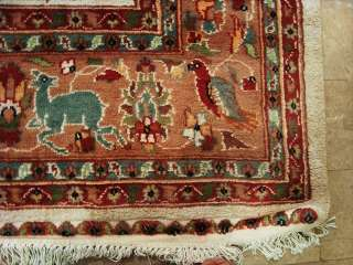 LION TIGER HUN JUNGLE HAND KNOTTED CARPET WOOL SILK 9X6