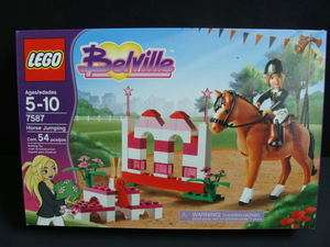 LEGO Belville HORSE Jumping Set Stable Race 7587 NEW
