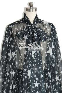 Fashion Stars Blacks Long Sleeves Prints Evening Prom Party Girls