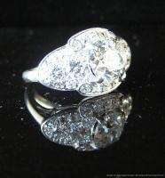 Antique Art Deco 1.86 Diamond Platinum Engagement Anniversary Dinner