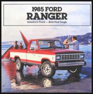 1985 Ford Ranger Pickup Truck Brochure, XLS XLT MINT