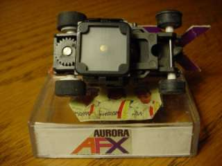MAGNATRACTION CHASSIS with SILVER STOCKER RIMS aurora afx ho slot car